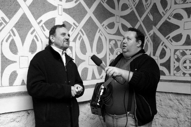 Tomáš Černý s Petrem Dujkou, synem majitelky doudlebského zámku