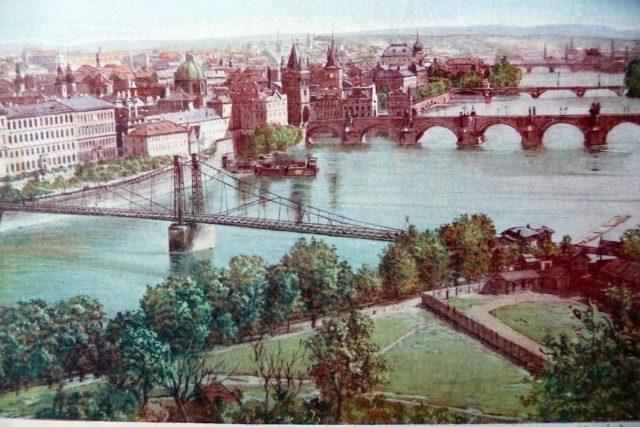 Historický pohled na pražské mosty | foto: Pražská paroplavební společnost