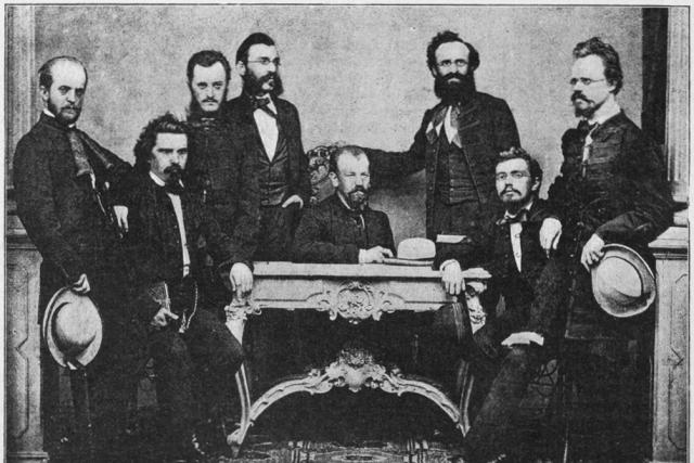 První výbor spolku Hlahol v roce 1862   foto: Wikipedia,  public domain - volné dílo