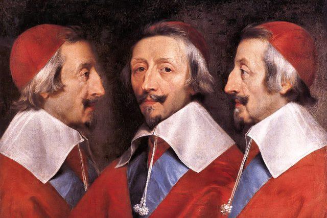 Philippe de Champaigne: Trojportrét kardinála Richelieu (1637 nebo 1642, olej na plátně)
