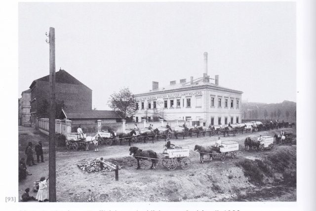 Radlická mlékárna rok 1900 | foto: Jindřich Eckert  (1833 - 1905)
