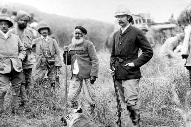 František Ferdinand d´Este na lovu tygra v Rádžastánu v roce 1892 | foto:  Spolek přátel Konopiště