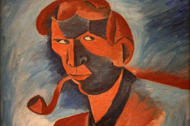 Bohumil Kubišta: Kuřák  (autoportrét)   foto: Národní galerie v Praze
