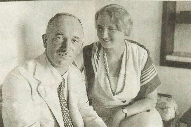 Edvard Beneš se svou ženou v roce 1934