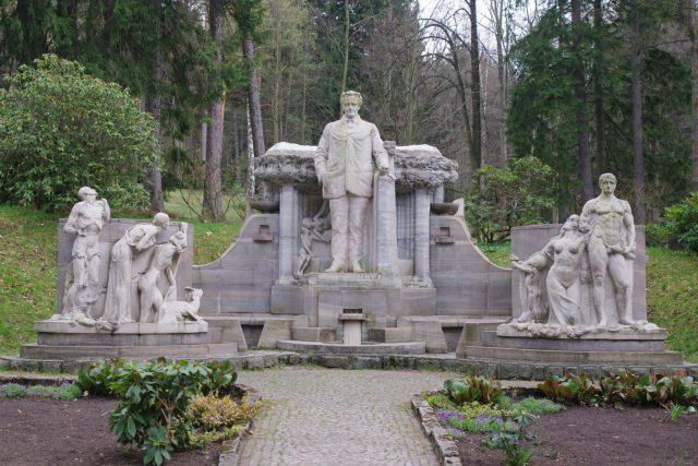 Pomník Vinzenze Priessnitze v Jeseníku | foto: Miroslav Kobza,  Český rozhlas