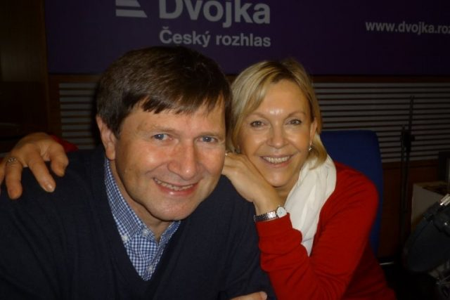 Herec Jan Hrušínský se svou ženou Miluší Špechtovou