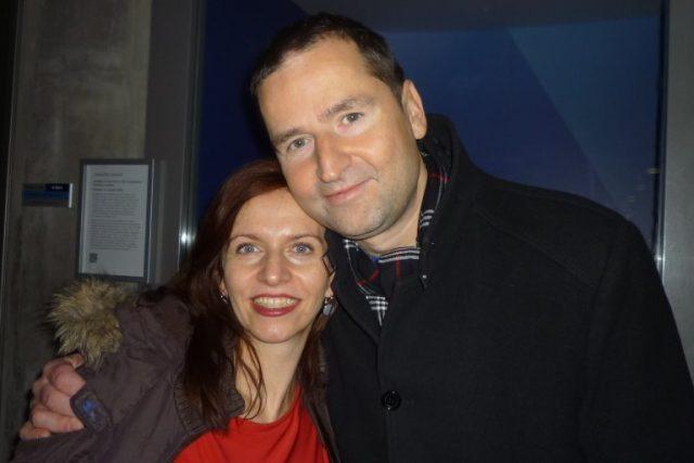 Nora Fridrichová s Robertem Zárubou v pořadu Dvojky nic nezatloukli   foto: Archiv Hanky Švejnohové