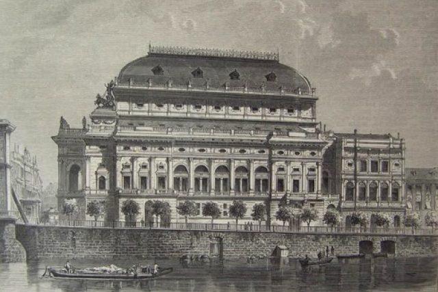 Národní divadlo Praha - 1881   foto: Wikimedia Commons