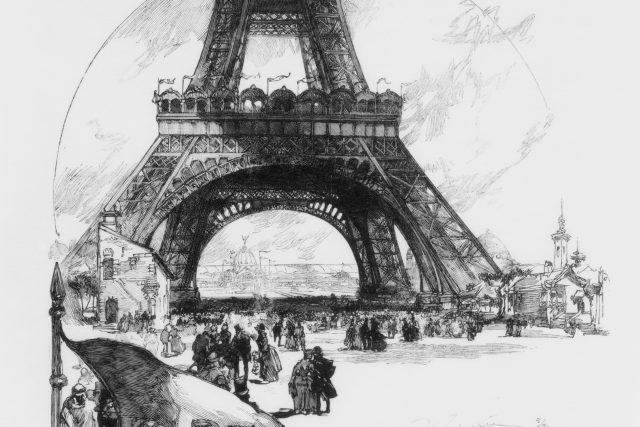 Auguste Louis Lepère – La Tour Eiffel, 1889 (výřez)