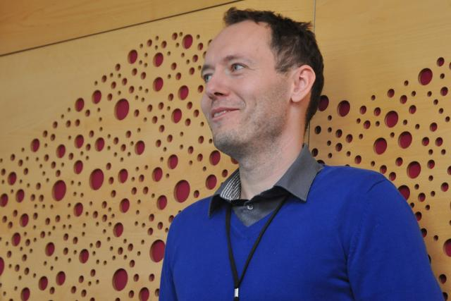 Redaktor Petr Sobotka na Dni otevřených dveří na Plusu