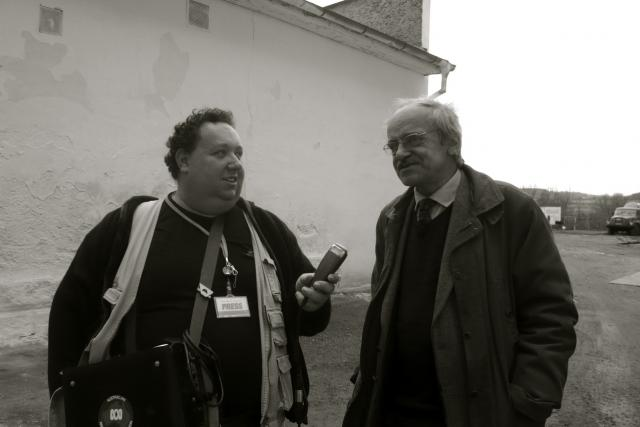 Jaroslav Lobkowicz a Tomáš Černý při natáčení   foto: Martin  Groman