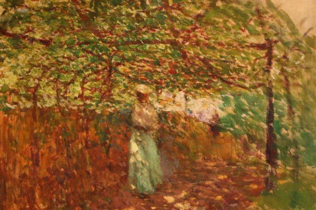 Antonín Slavíček: Loubí v zahradě | foto: Wikipedia,  public domain - volné dílo