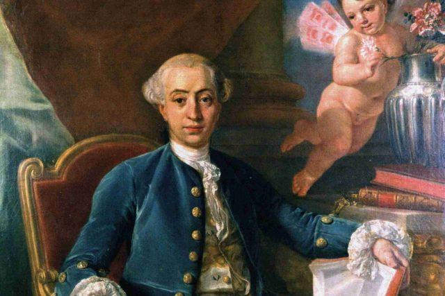 Giacomo Casanova na obraze Antona Raphaela Mengse