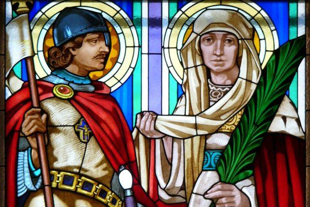 Svatý Václav a Svatá Ludmila v kostele svatého Cyrila a Metoděje v Olomouci.jpg