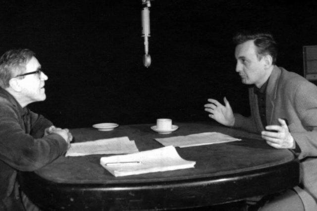 V.Hlavatý a Z.Řehoř-natáčení hry Noční bilance-1964 | foto: Archivní a programové fondy Českého rozhlasu