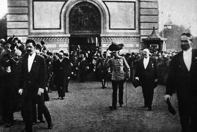 Císař František Josef I. na Jubilejní výstavě v roce 1891 | foto: Wikipedia,  public domain - volné dílo,  Rudolf Bruner-Dvořák