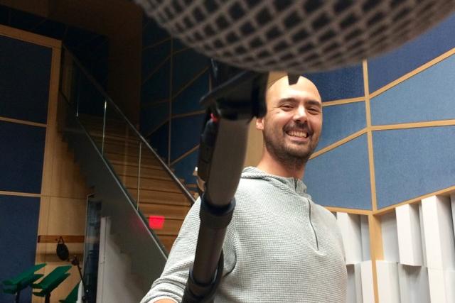 Filip Skuhrovec při natáčení Audies