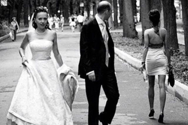 nevěra, svatební den