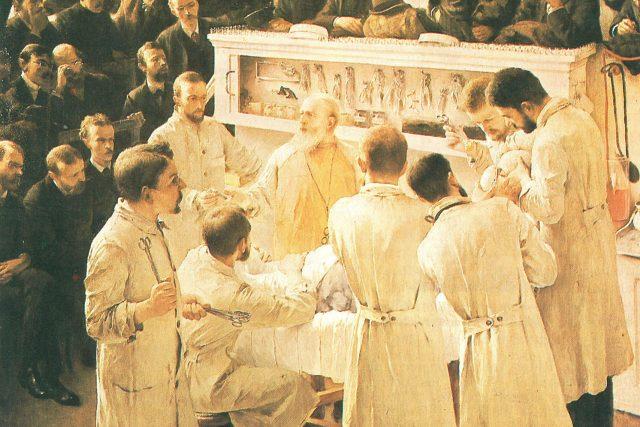 Theodor Billroth v přednáškovém sále  (1890) | foto: Adalbert Seligmann