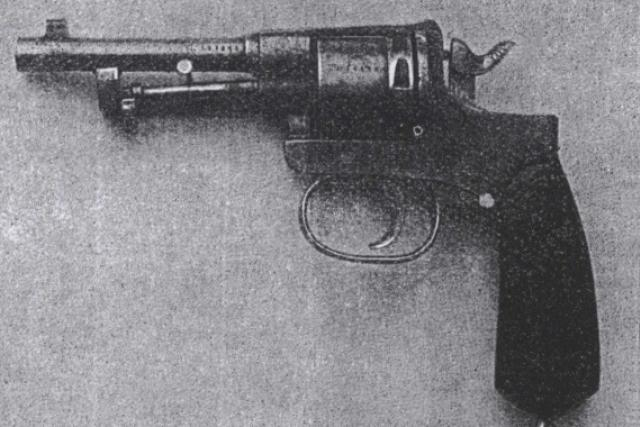 Vražedná zbraň - revolver Rast & Gasser, ráže 8 mm