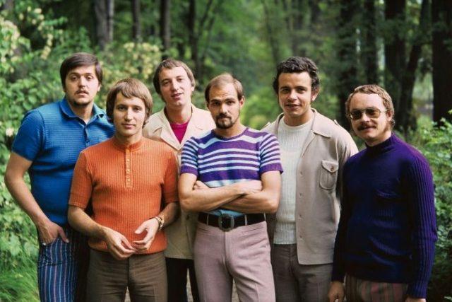 Rangers ve své původní sestavě (zleva): Jan Vančura, Radek Tomášek, Milan Dufek, Miroslav Řohošek, Jiří Veisser a Antonín Hájek