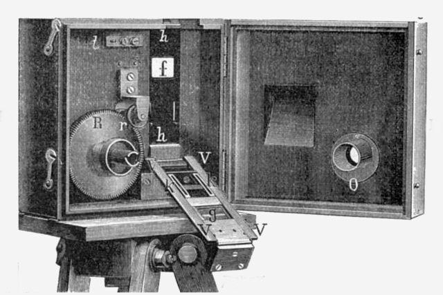 Kinematograf z konce 19. století | foto: Wikimedia Commons