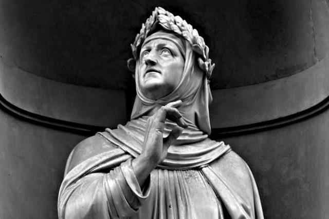 Francesco Petrarca v galerii slavných u florentské Uffizi