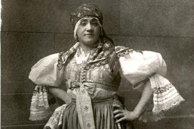 Gabriela Horvátová jako Kostelnička v Její pastorkyni 26. 5. 1916   foto:  archiv Národního divadla