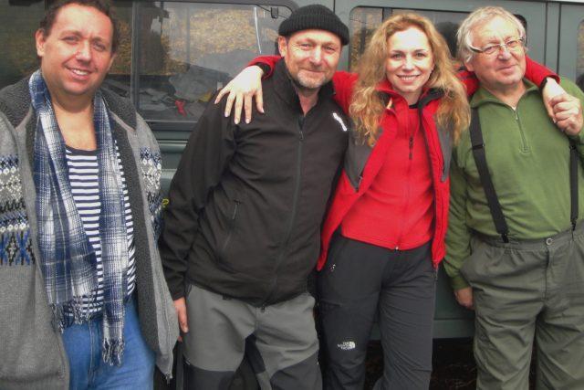 Účastníci výpravy: Tomáš Černý, Karel Klinovský, Martina Kociánová a Václav Cílek
