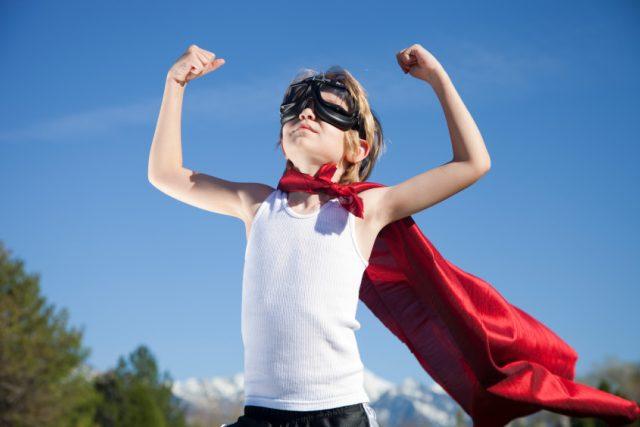 Sebevědomí - sebedůvěra - superschopnosti - dítě - děti