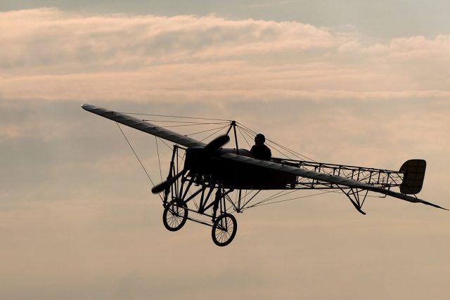 Rekonstruované letadlo Blériot XI, na kterém létal Jan Kašpar