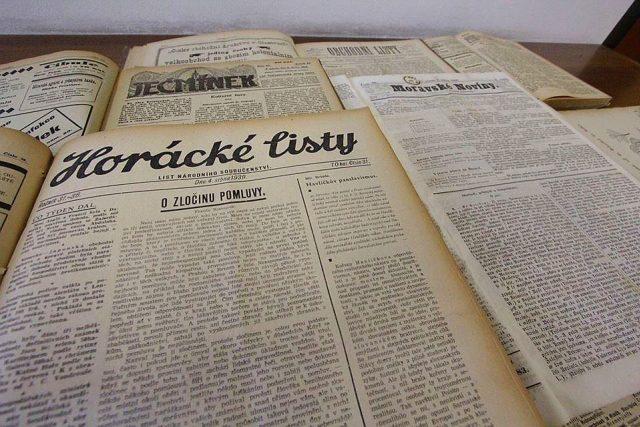 Snímky starých novin a periodik  (ilustrační foto)   foto: Radka Vítková