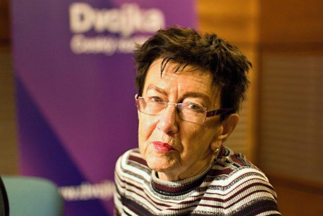 Jiřina Šiklová   foto: Michael Erhart,  Český rozhlas