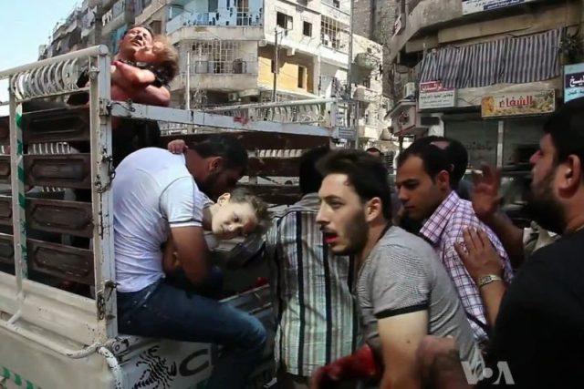 Obrázek ze syrského Aleppa   foto: Public domain,   Voice of America News