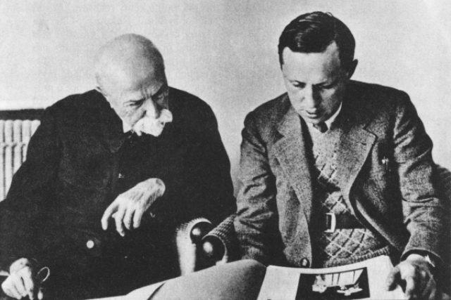 Tomáš Garrigue Masaryk a Karel Čapek (1931)