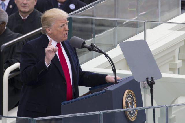 Donald Trump při svém inauguračním projevu