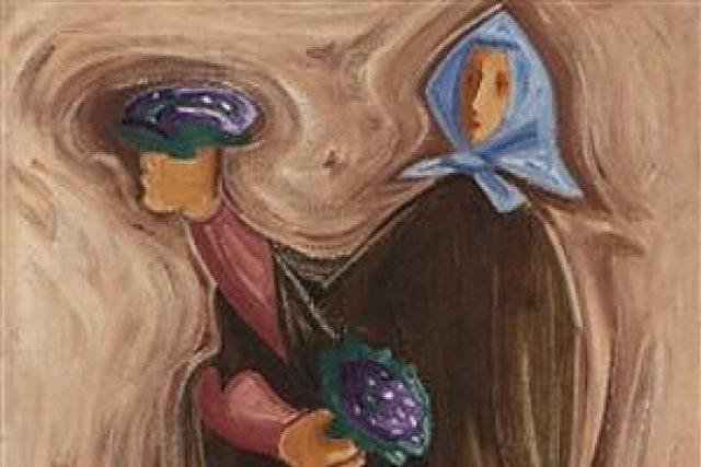 Josef Čapek: Květinářka (výřez z obrazu, 1936)