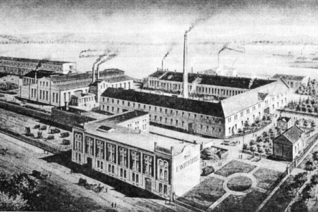 Prostějov,  továrna na hospodářské stroje a slévárna firmy F. Wichterle po roce 1900 | foto: Wikimedia Commons