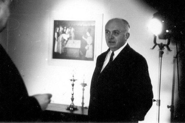 Otakar Vávra při natáčení filmu Evropa tančila valčík (1980)
