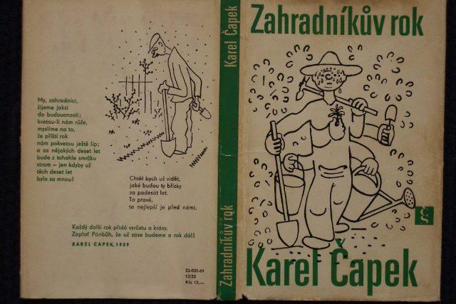 Obálka knihy Karla Čapka Zahradníkův rok s ilustracemi Josefa Čapka | foto: Zdroj: Flickr,   CC BY-NC 2.0,   GloomyCorp