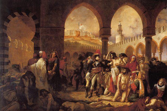Napoleon Bonaparte při návštěvě útulku pro nemocné Jaffě | foto: CC0 Public domain