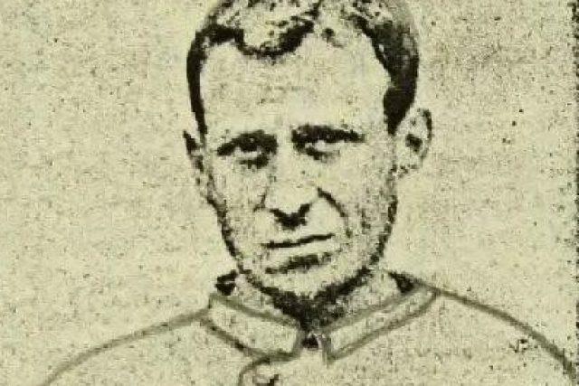 Antonín Šimák na dobové kresbě