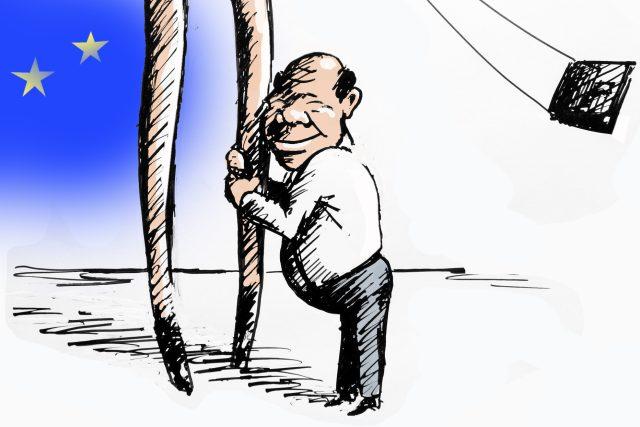 Na ženský je člověk krátkej (výřez z karikatury)