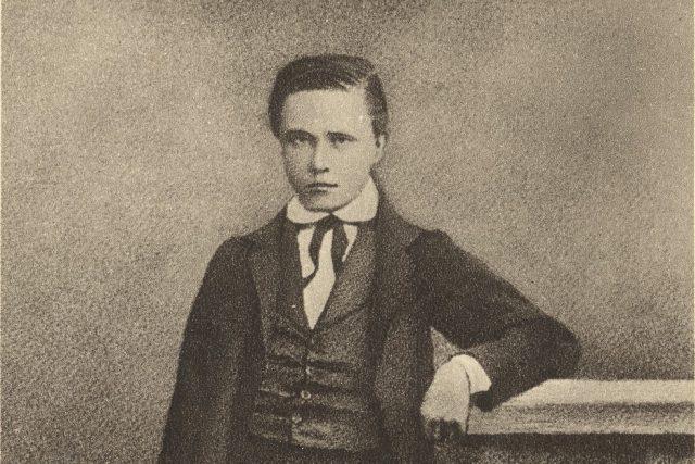 Třináctiletý Tomáš Masaryk   foto:  Archiv Muzea TGM Rakovník