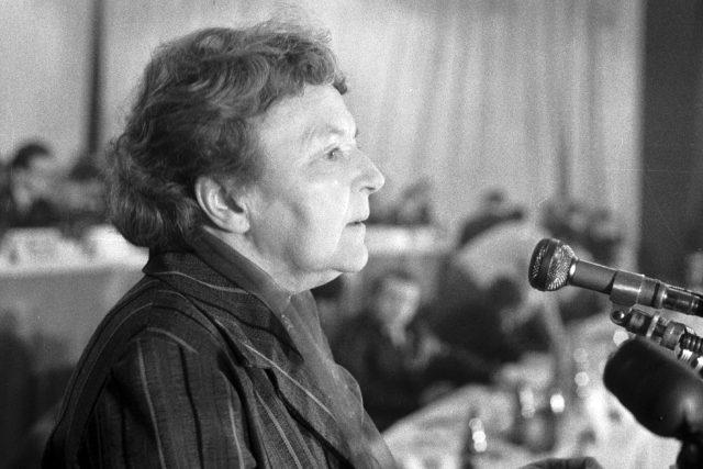 Marie Švermová (PKOJF - mítink Mládež k budoucnosti Československa v roce 1968)