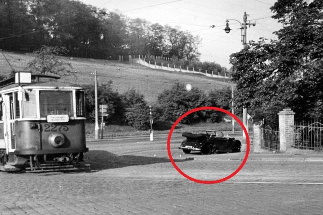 Místo útoku na zastupujícího říšského protektora Reinharda Heydricha