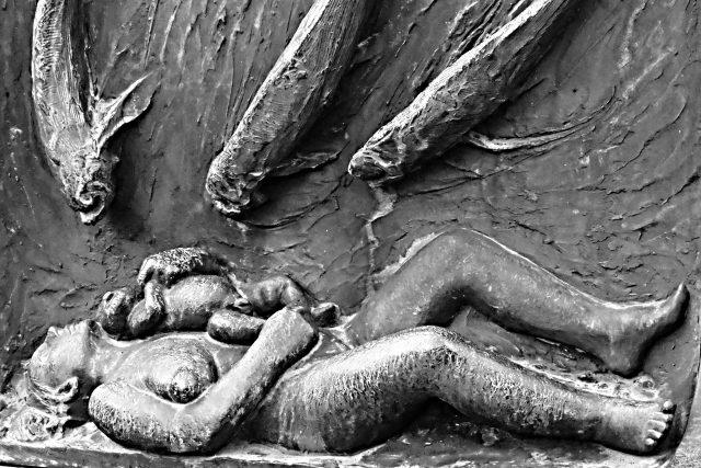 Utopená žena v představě Gustava Vigelanda