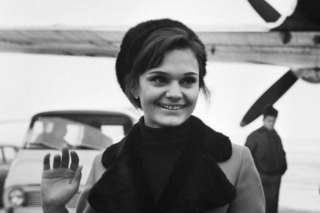 Hanka Mašková v roce 1968 (česká krasobruslařka, která tragicky zahynula v teprve 22 letech)
