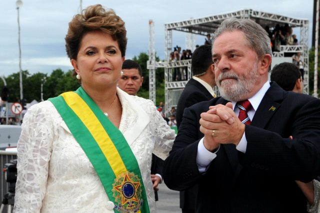 Brazilští exprezidenti Dilma Rousseffová a Luiz Inácio Lula da Silva