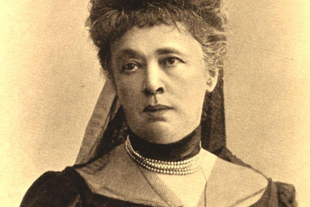 Baronka Bertha Sophia Felicita von Suttnerová rozená hraběnka Kinská ze Vchynic a Tetova  (1906) | foto: Public domain,  Wikimedia Commons